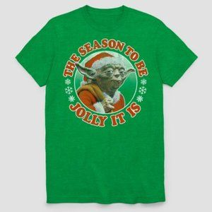 Star Wars Kelly Green Men's Yoda Ugly Holiday Tee